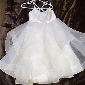 David's Bridal Flower Girl Dress 3T White